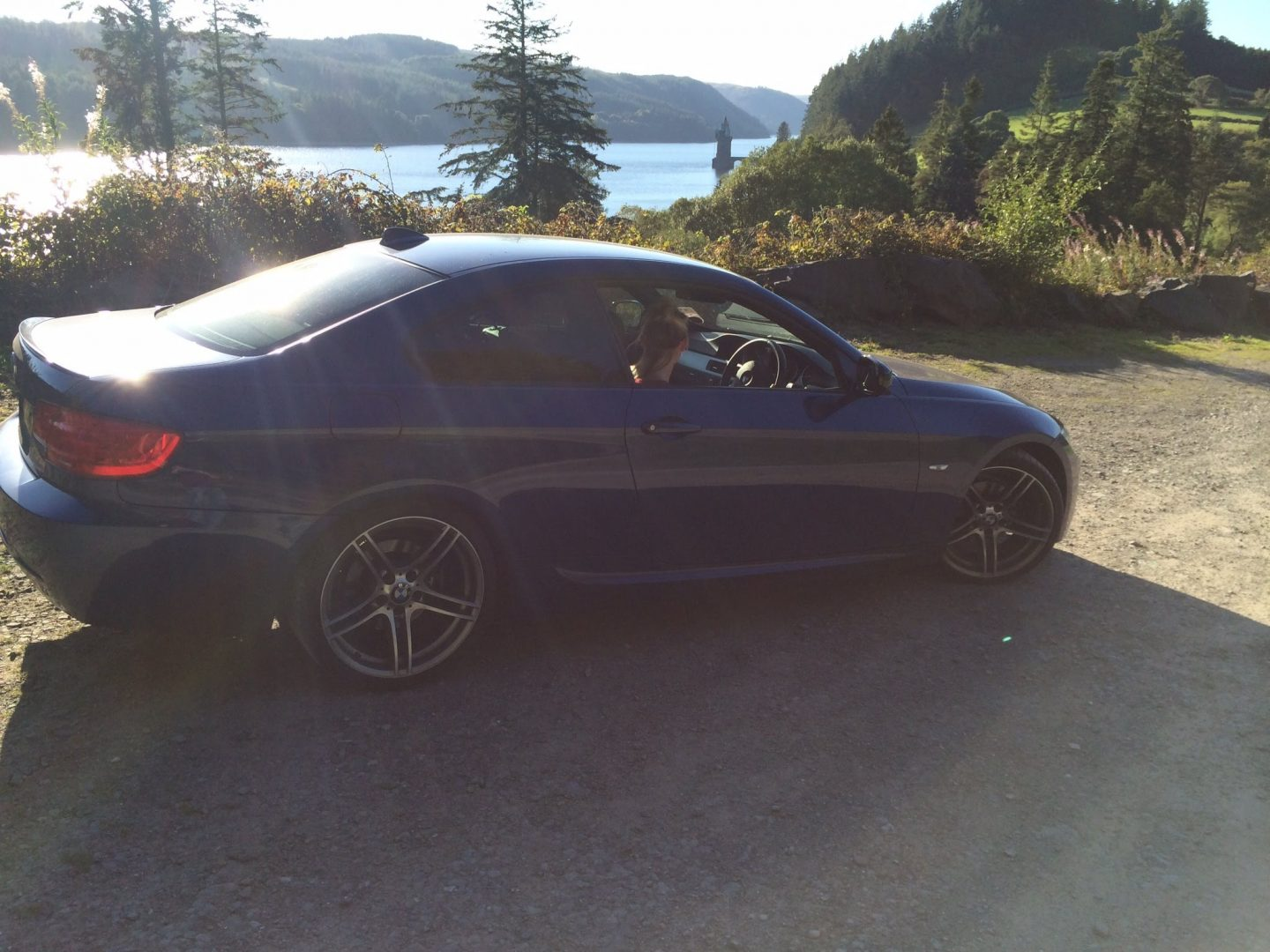 Driving the BMW in Wales