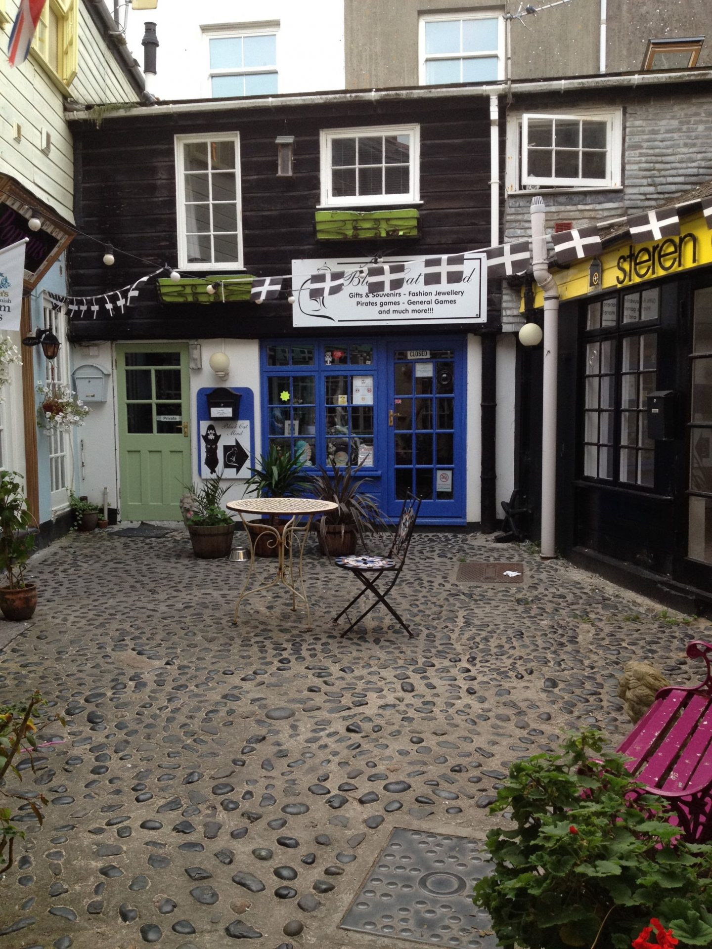 Courtyard in St Ives, Cornwall