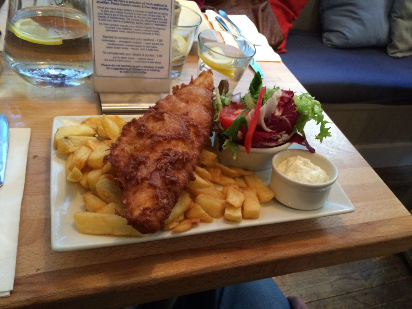 Fish and chips in St Ives, Cornwall