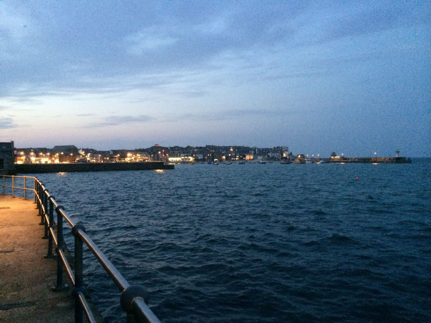 Night time across St Ives, Cornwall