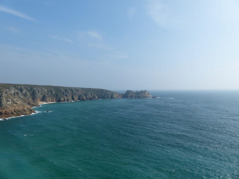 Off the coast near Minack Theatre and Porthcurno, Cornwall