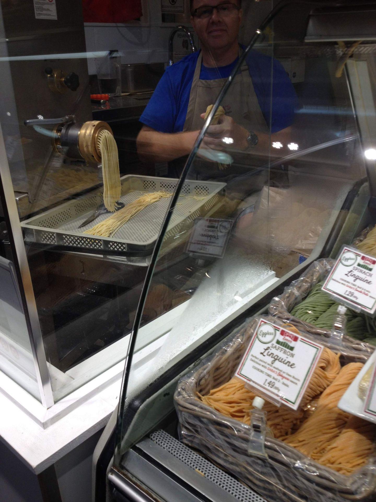 Pasta at Granville Island Public Market, Vancouver