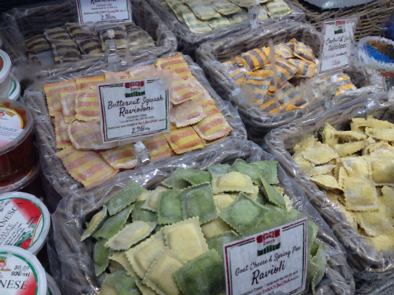 Fresh pasta at Granville Island Public Market, Vancouver