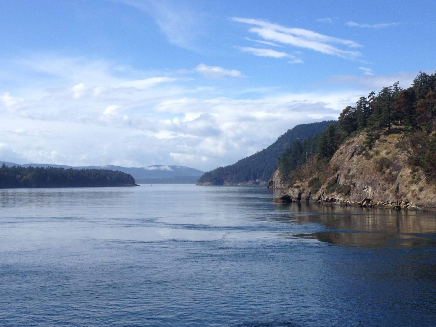 The ferry from Tsawwassen to Salt Spring Island, British Columbia