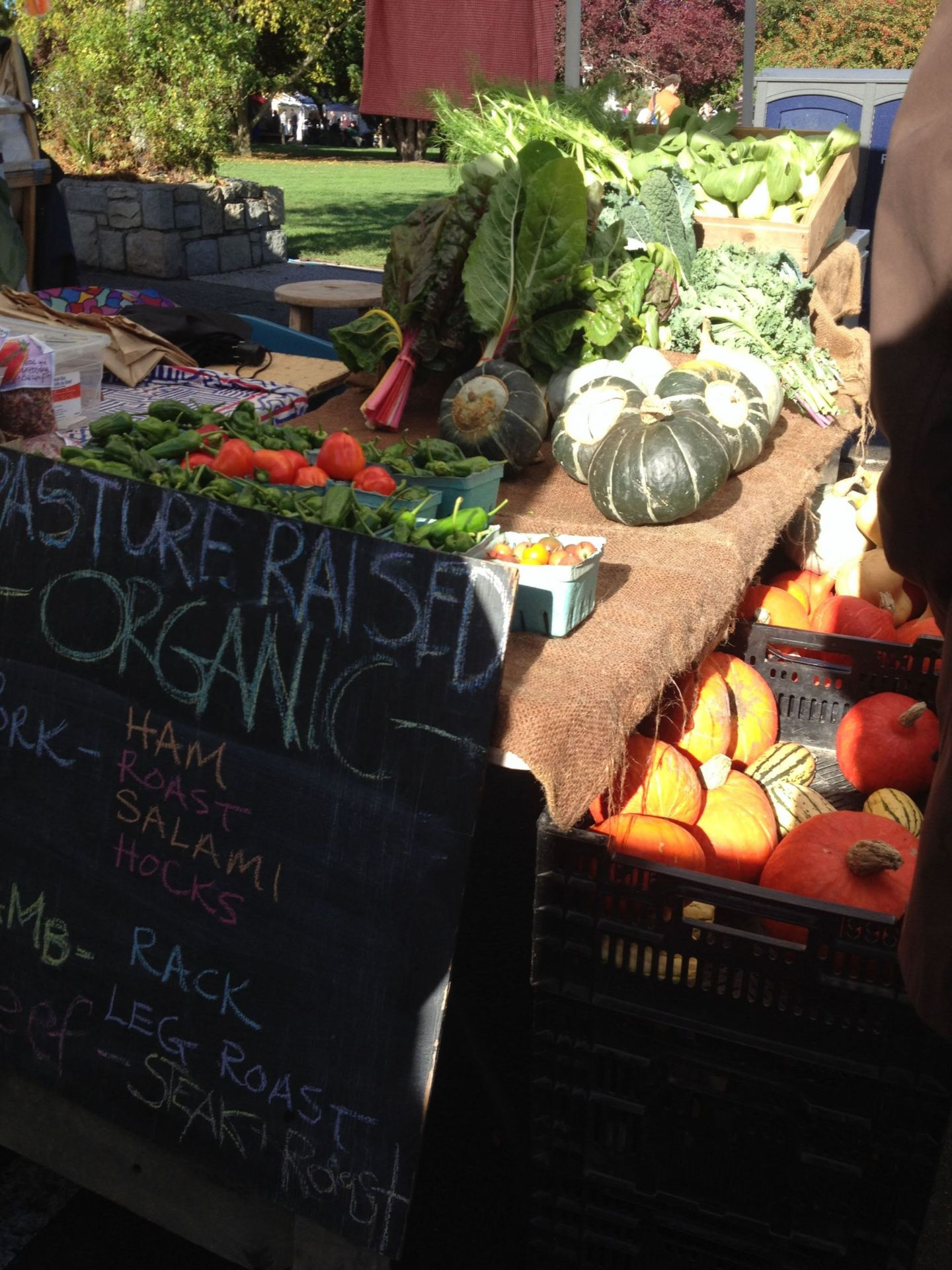 Organic fruit and veg at Salt Spring Island market