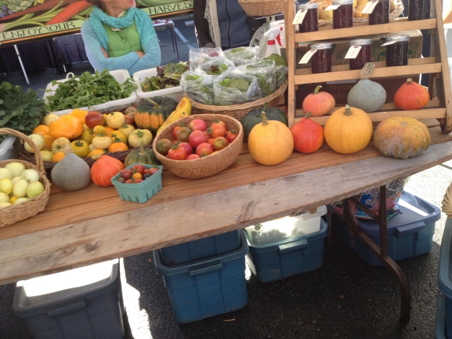 Organic produce at Salt Spring Island market