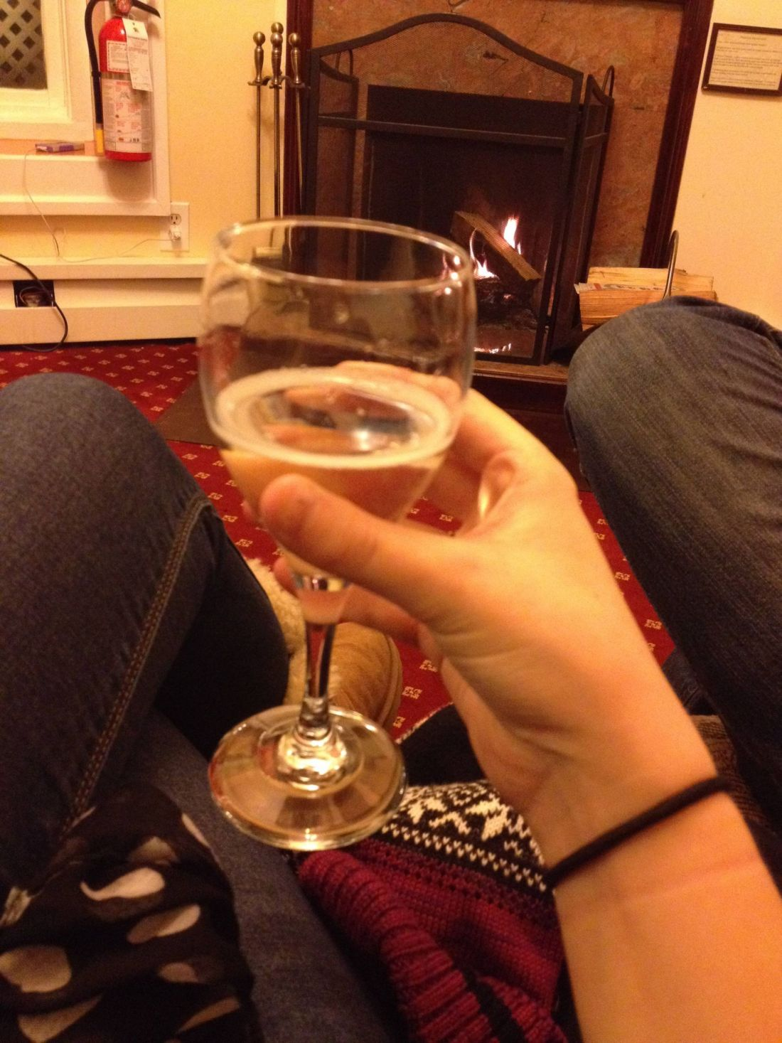 Bubbles by the fire