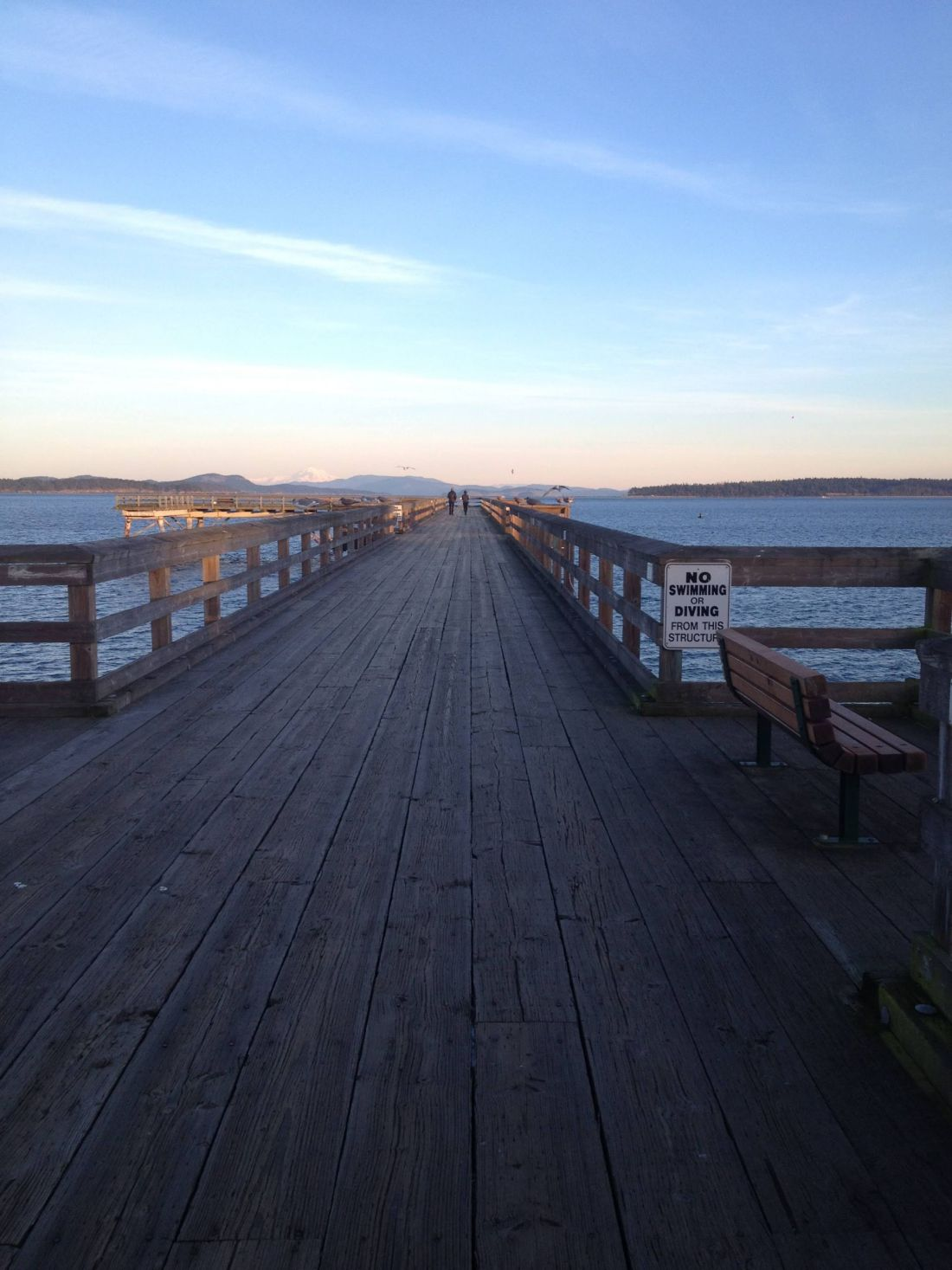 Fishing pier in Sidney, Vancouver Island