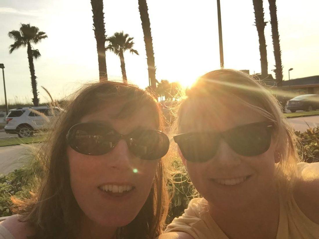 Girls enjoying the sunset