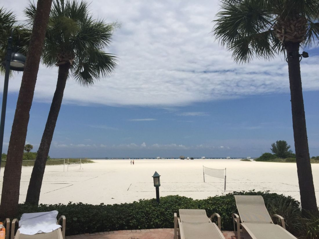 Beach volleyball at the Sheraton Sand Key Resort