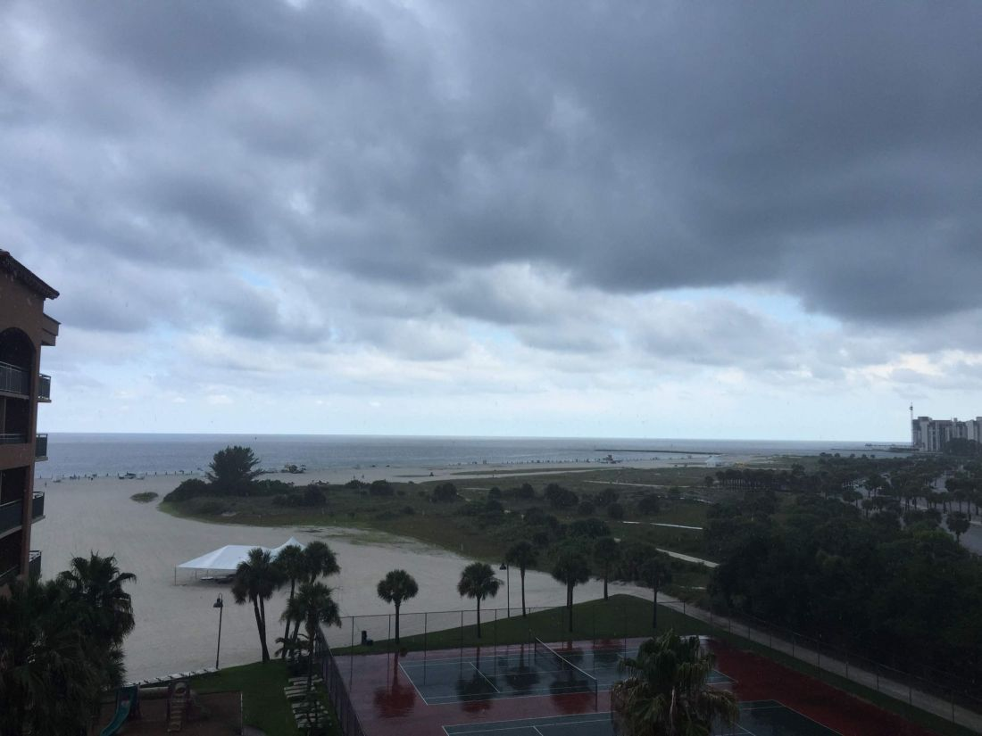 Stormy skies at the Sheraton Sand Key Resort, Clearwater