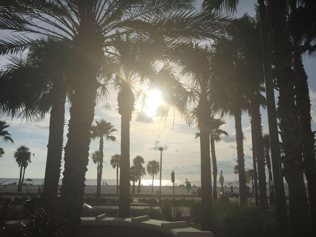 Sunset on the Florida beach
