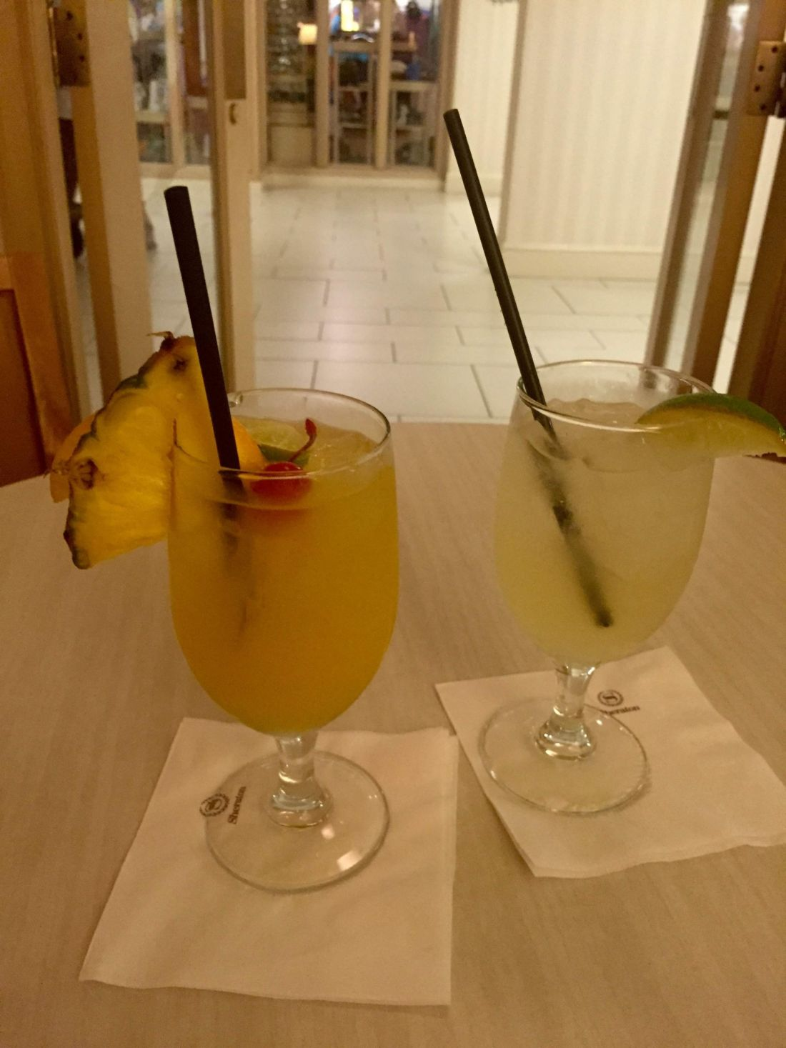 Drinks at the Sheraton Sand Key Resort