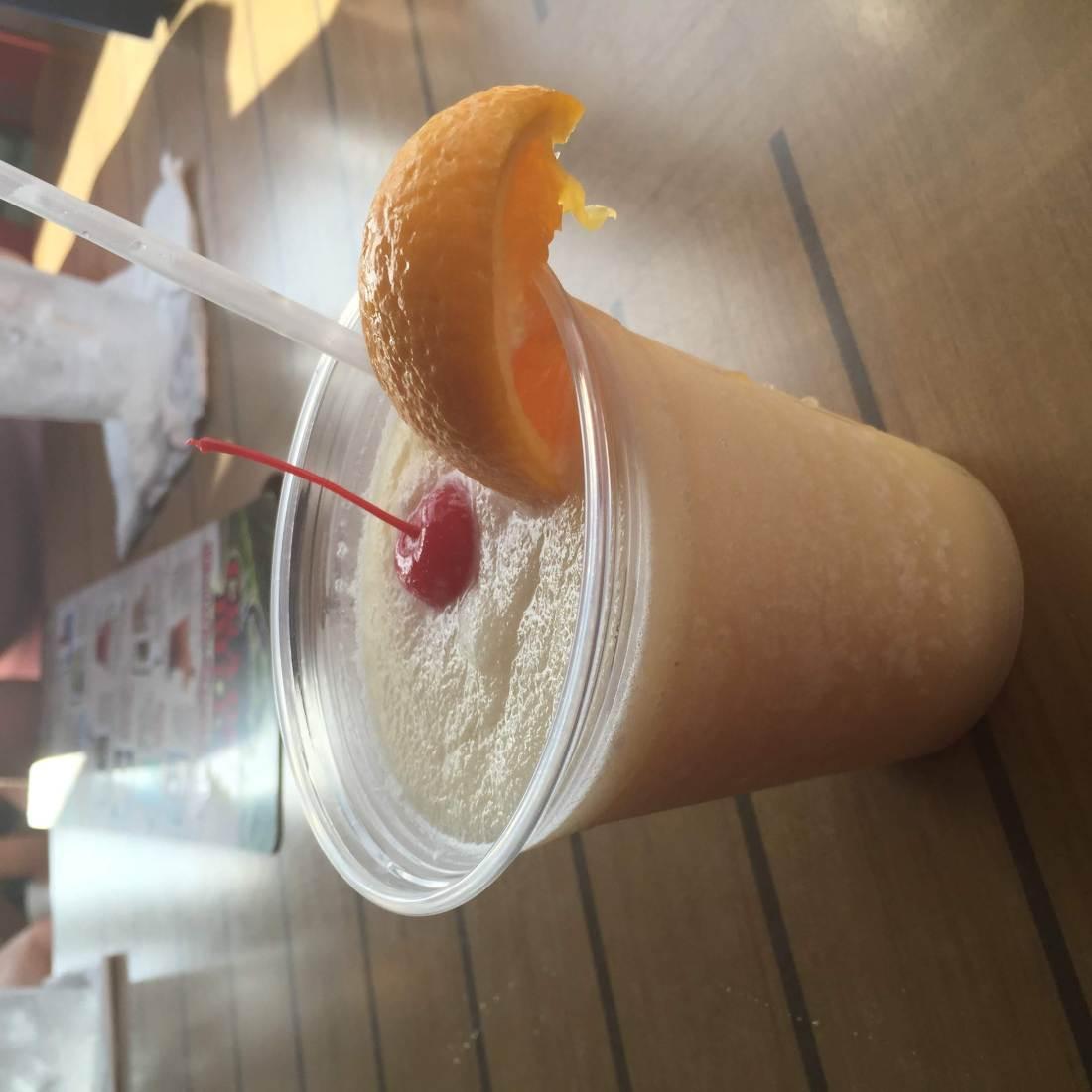 Pina colada cocktail at Crabby Bill's