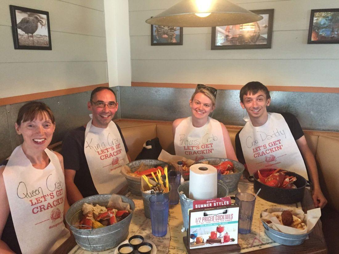 Family at Joe's Crab Shack, Clermont