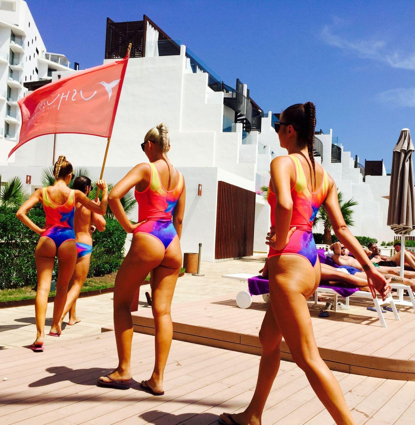 Ushuaia promo staff in Ibiza
