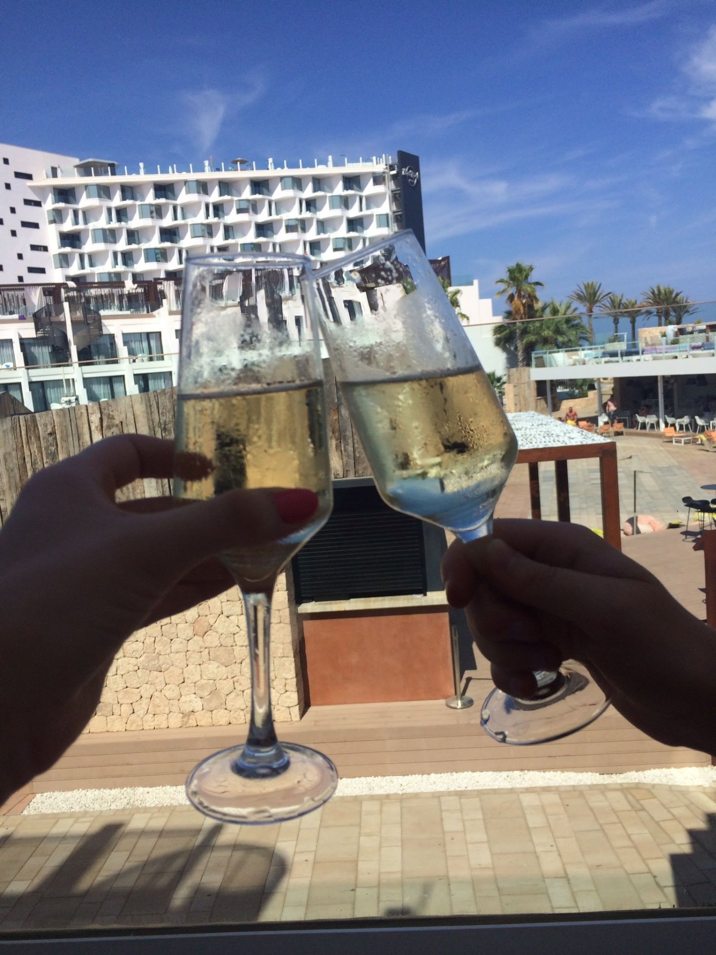 Cheers in Ibiza