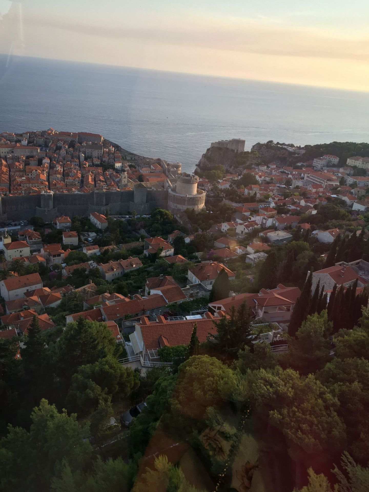Orange roofs from the Dubrovnik Cable Car