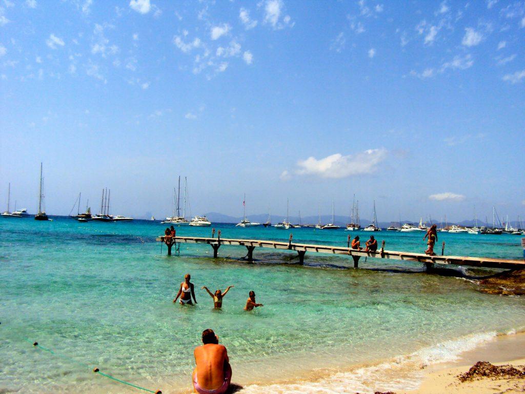 Beautiful beach on Formentera, Ibiza