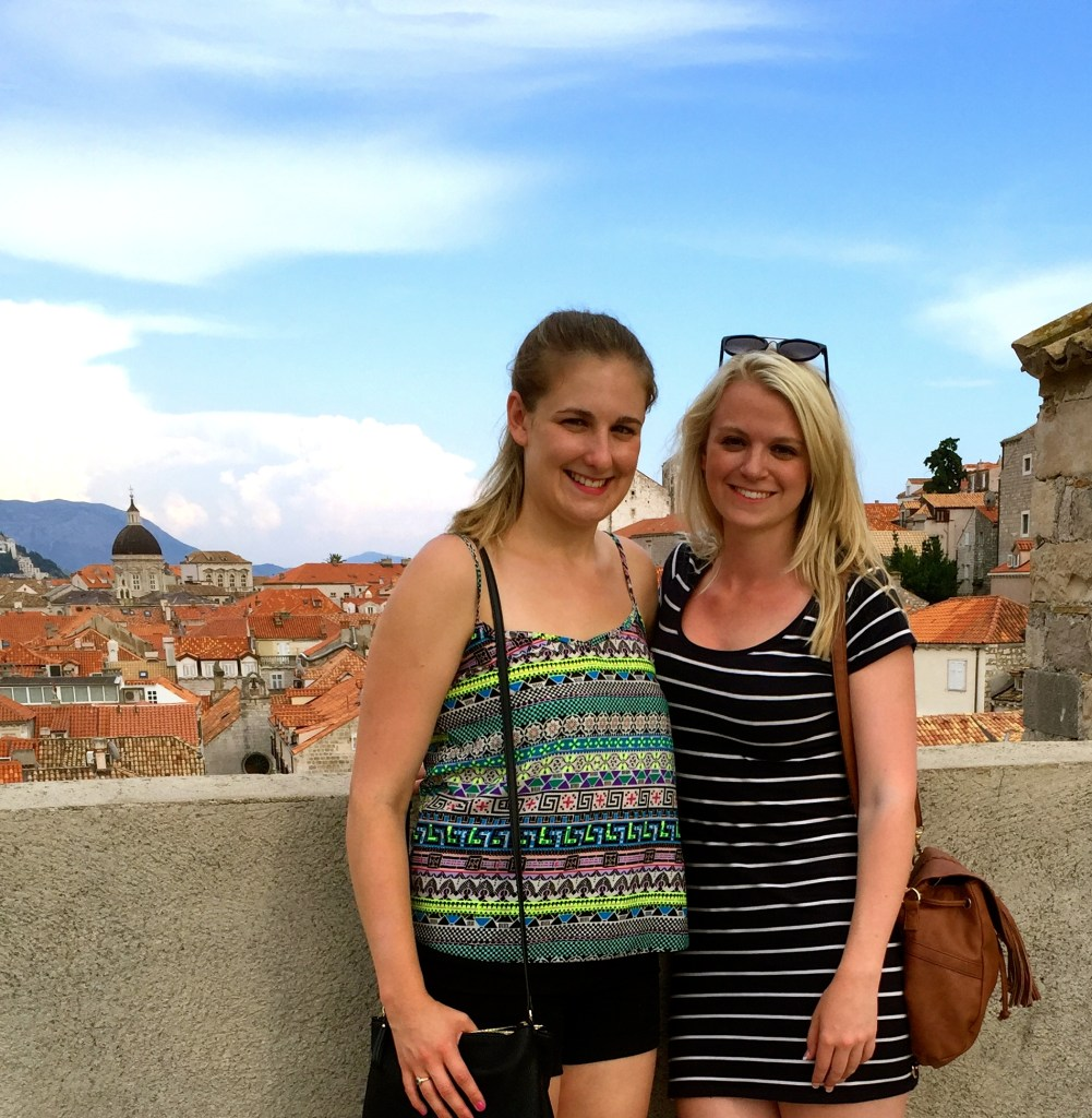 Girls walking the City Walls of Dubrovnik