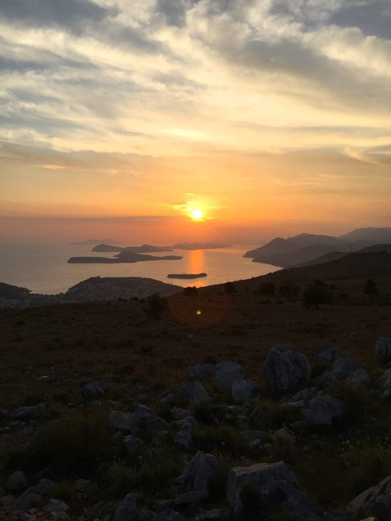 Sunset over the Elaphiti Islands after catching the Dubrovnik Cable Car
