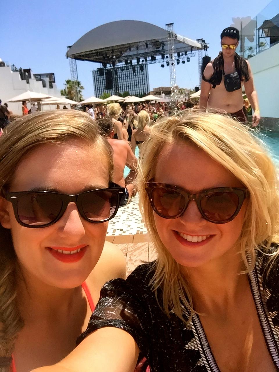 Girls at the Hard Rock Hotel Ibiza pool party