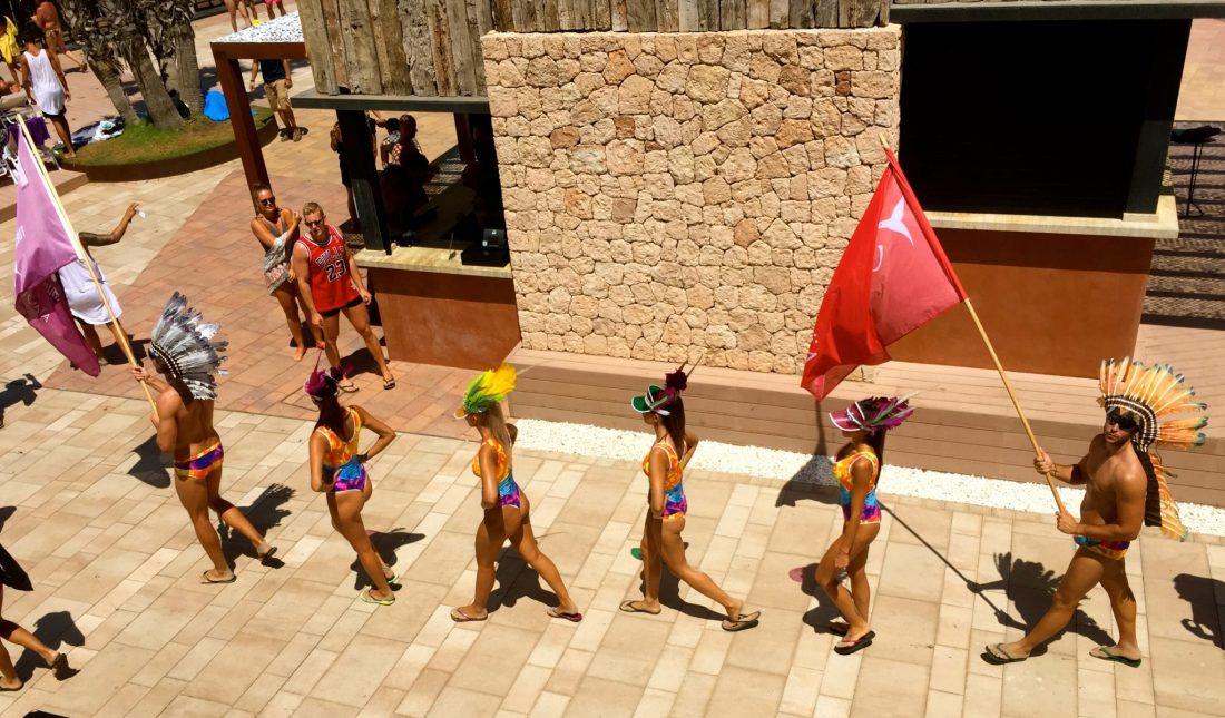 A party parade in Ibiza