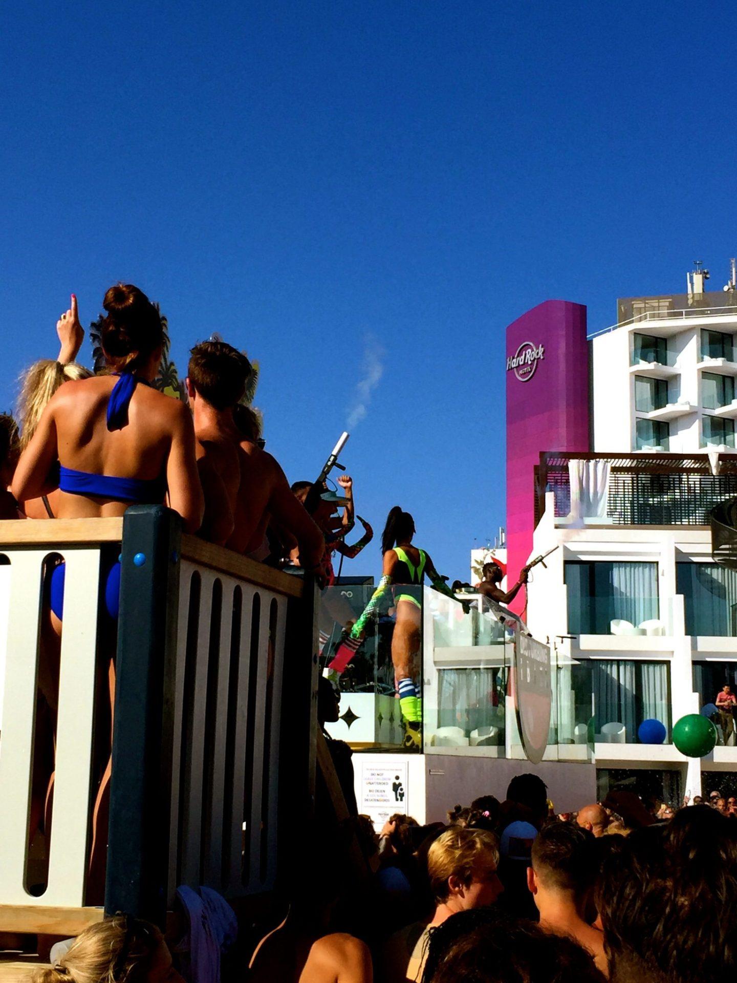 Tinie Tempah at Disturbing Ibiza, the Hard Rock Hotel Ibiza pool party