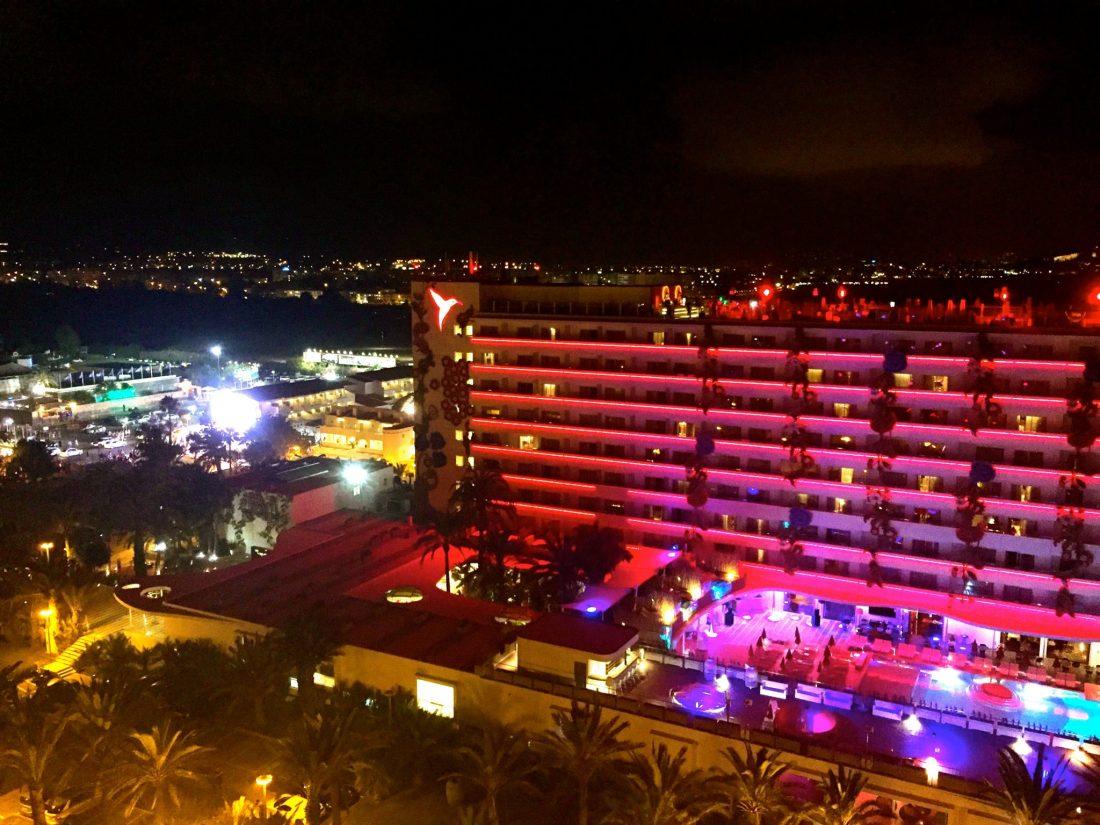 Rooftop view across Ushuaia, Ibiza