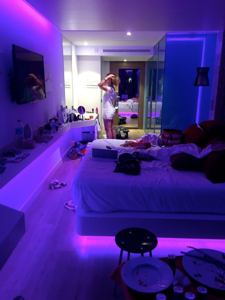 Hard Rock Hotel Ibiza room after the Sunset Strip