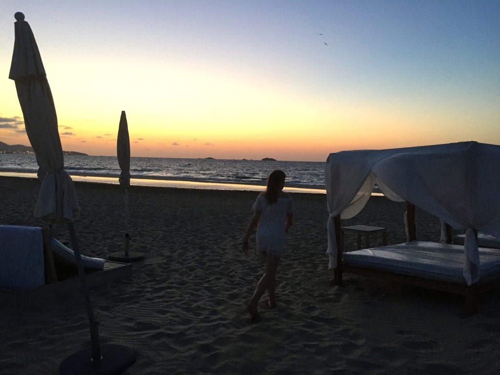 Sunrise on Playa d'en Bossa, Ibiza