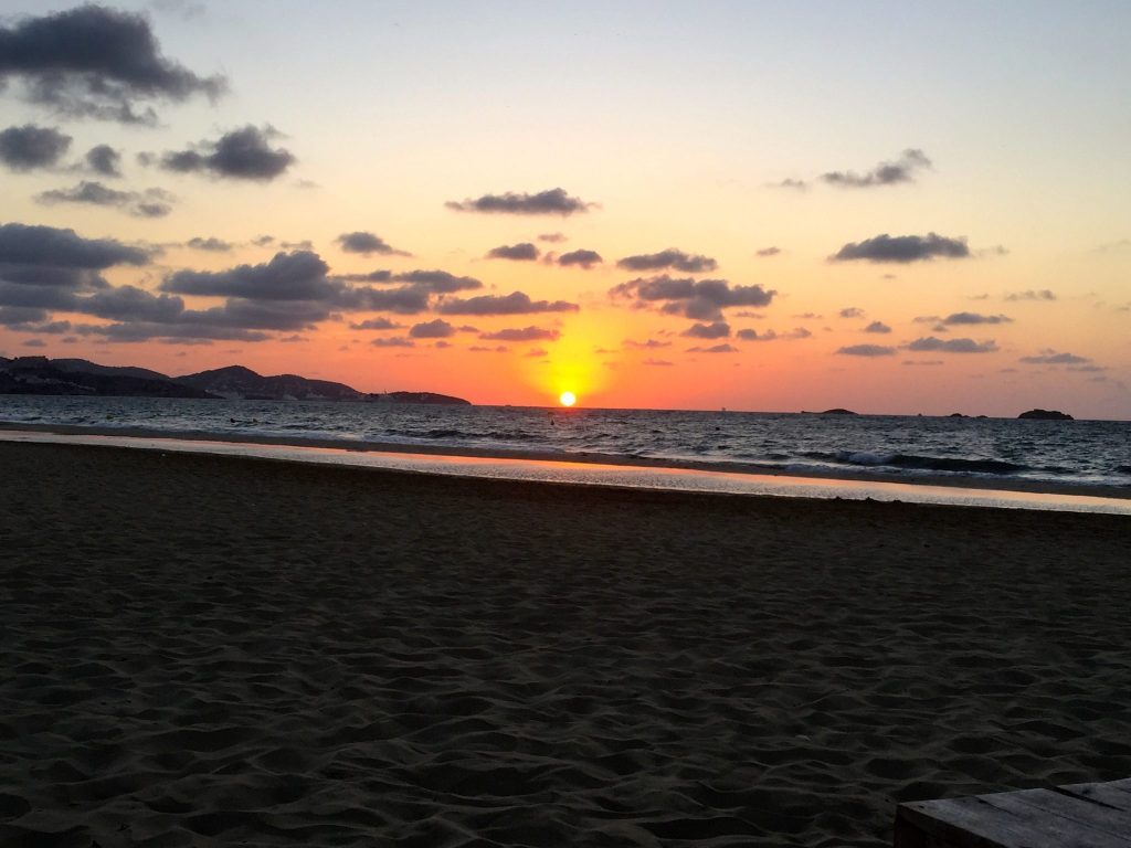 Sunrise over Playa d'en Bossa, Ibiza
