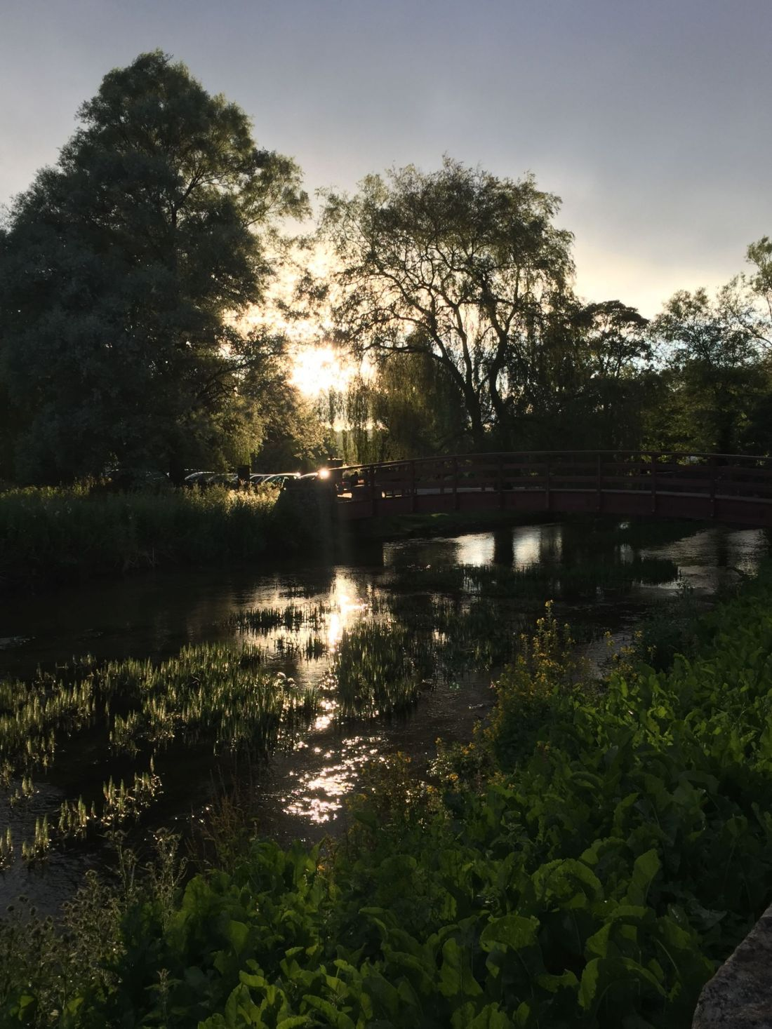 Sunset in Bibury, Cotswolds