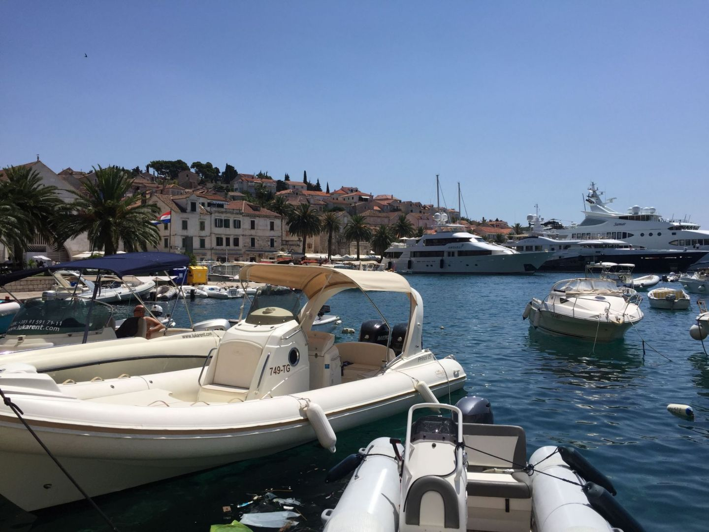 Boats in Hvar, Croatia