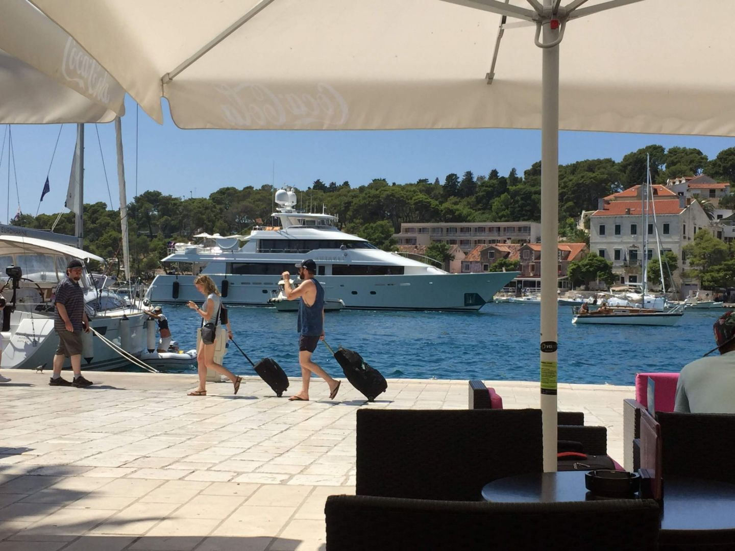 People watching near Hvar harbour
