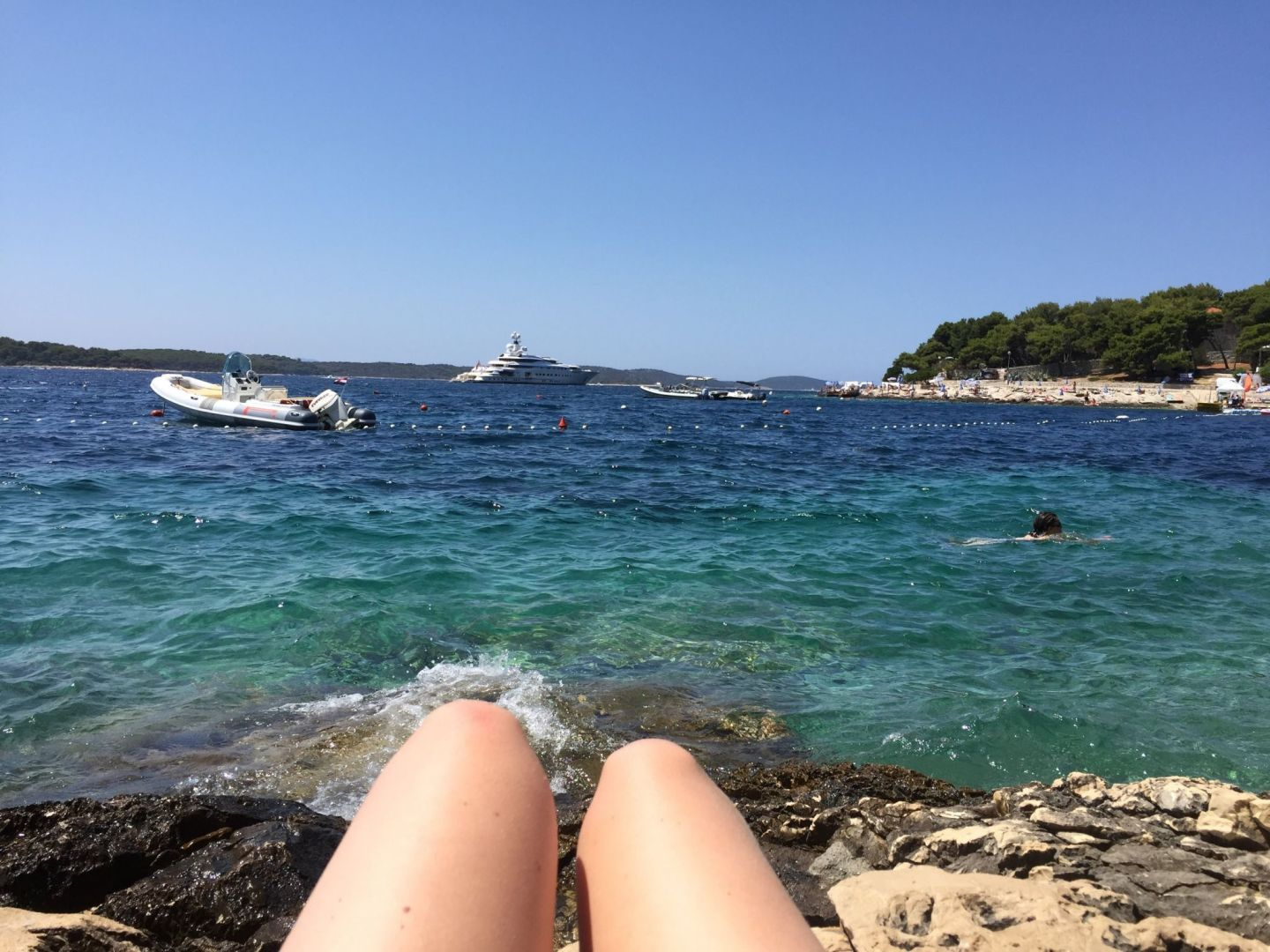 Sunbathing in Hvar, Croatia