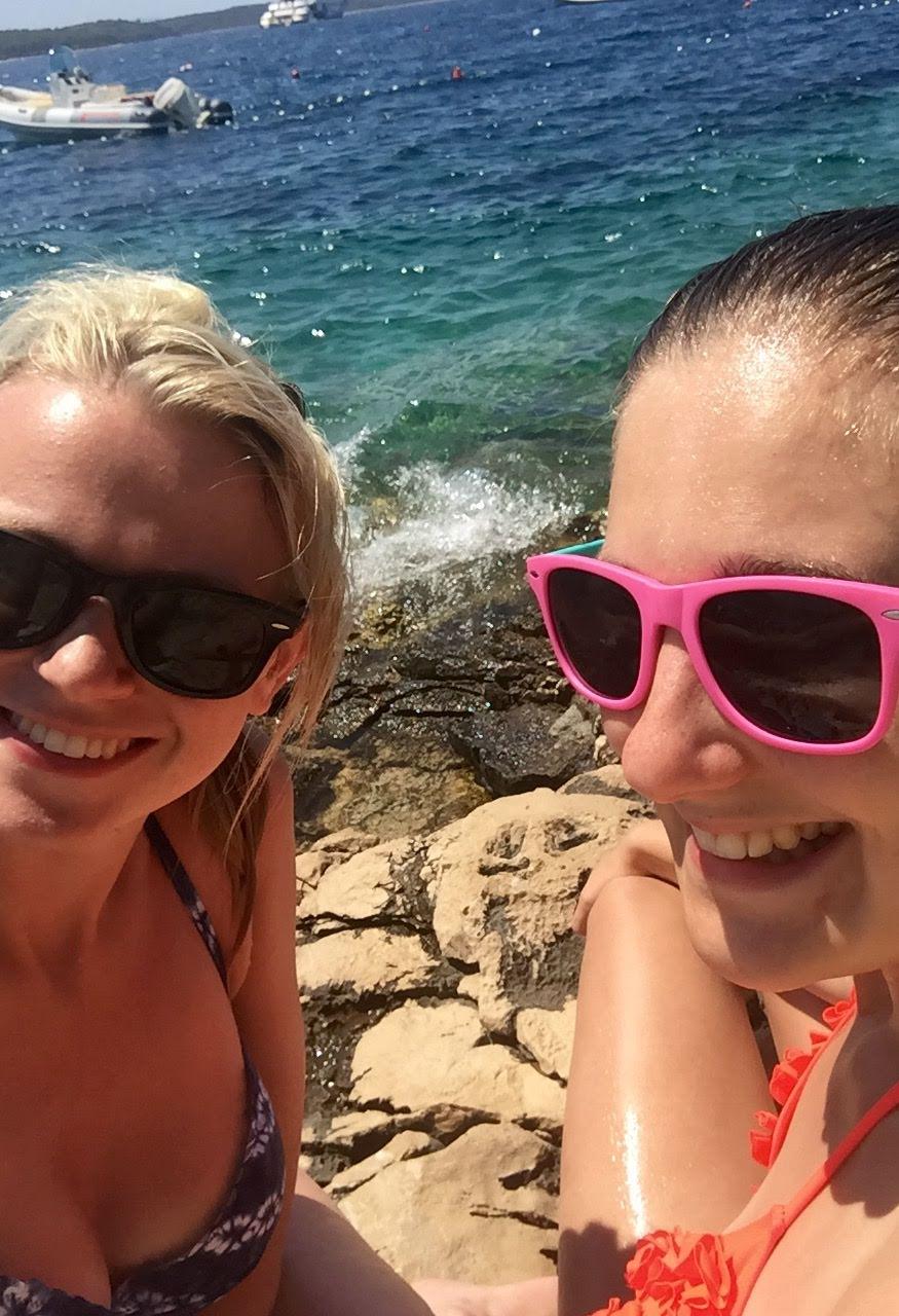 Girls in Hvar, Croatia