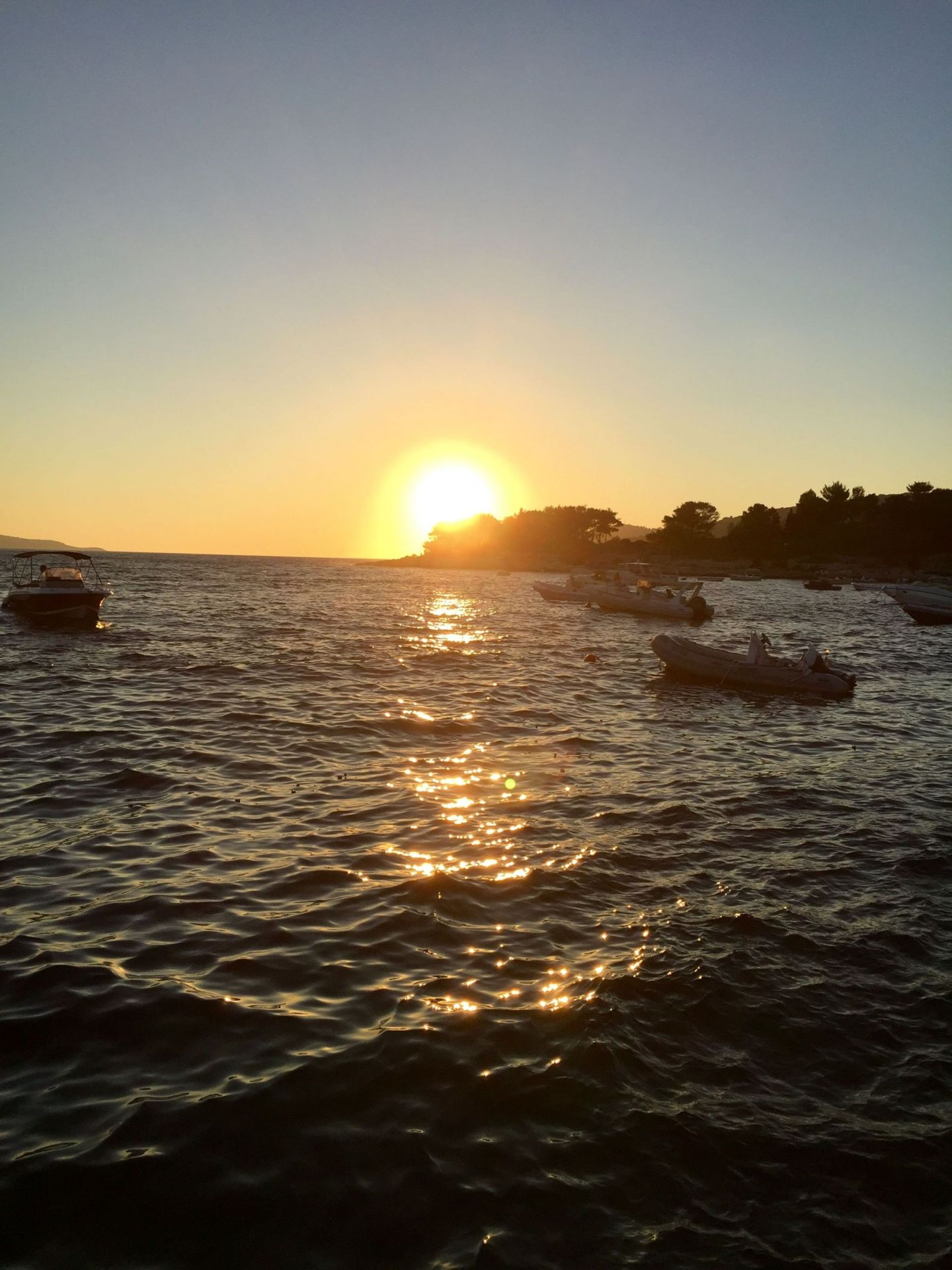 Sunset from Hula Hula Beach Club, Hvar
