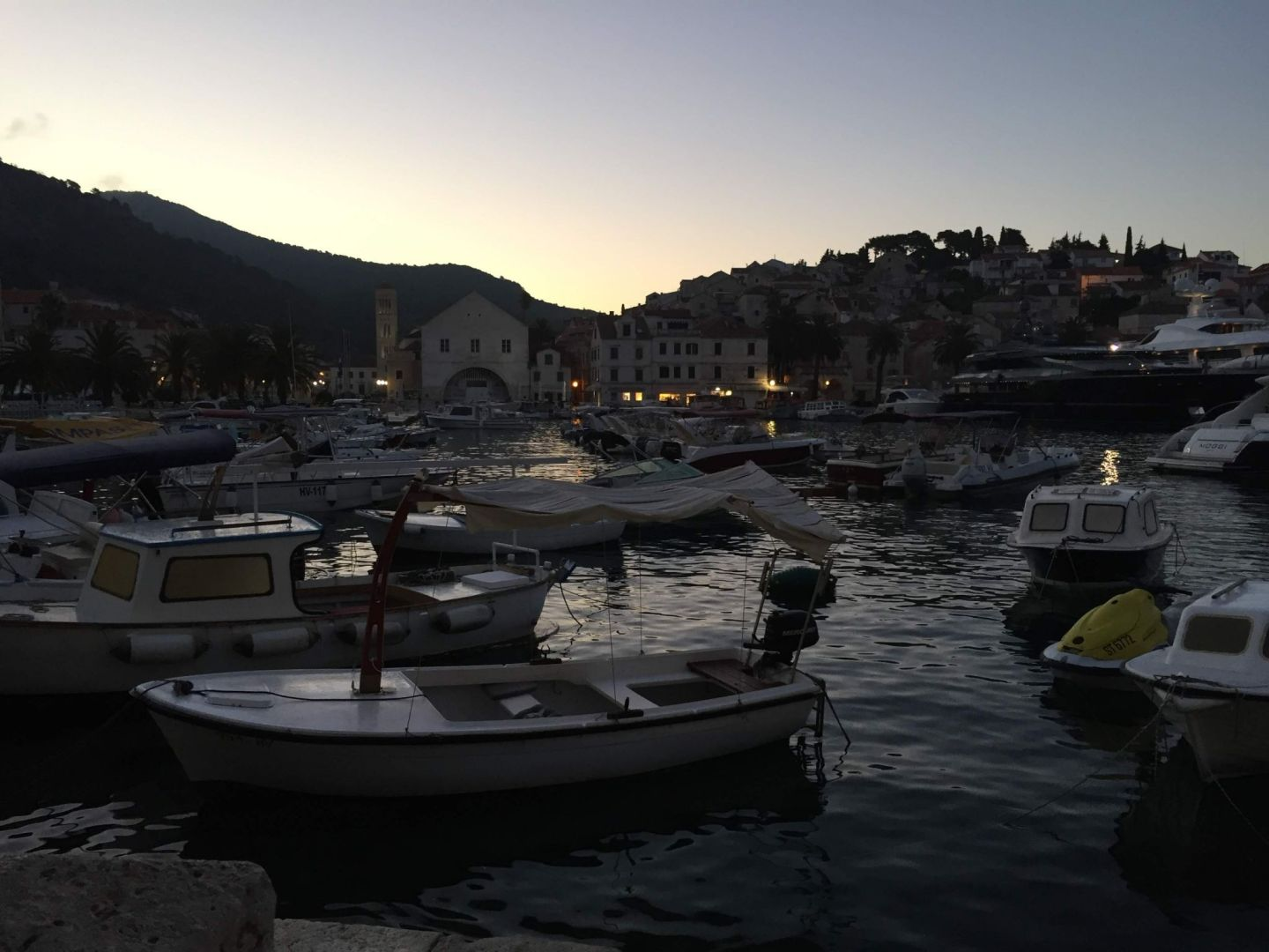 Hvar harbour at dawn