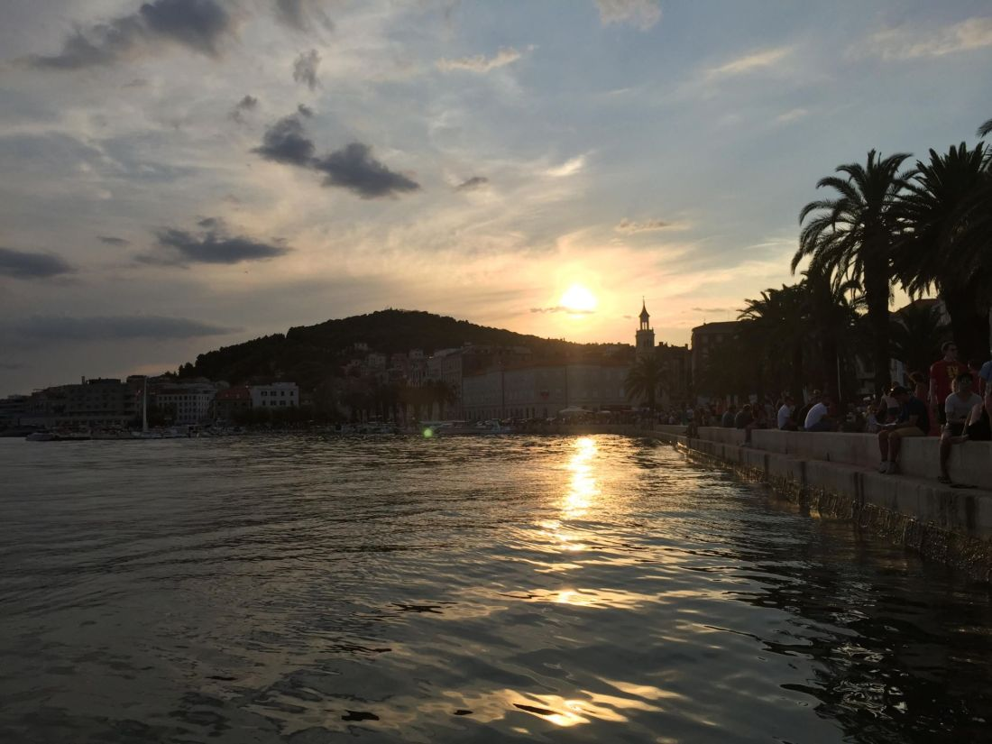 Sunset from Split's Riva, Croatia