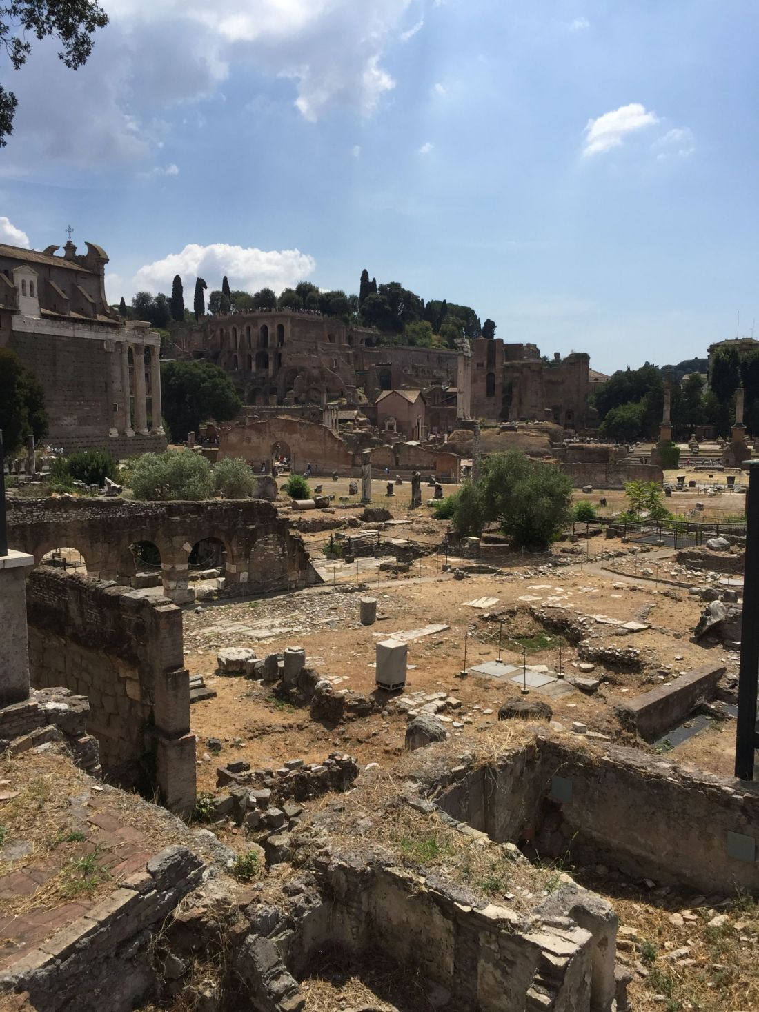 Historic ruins in Rome, Italy