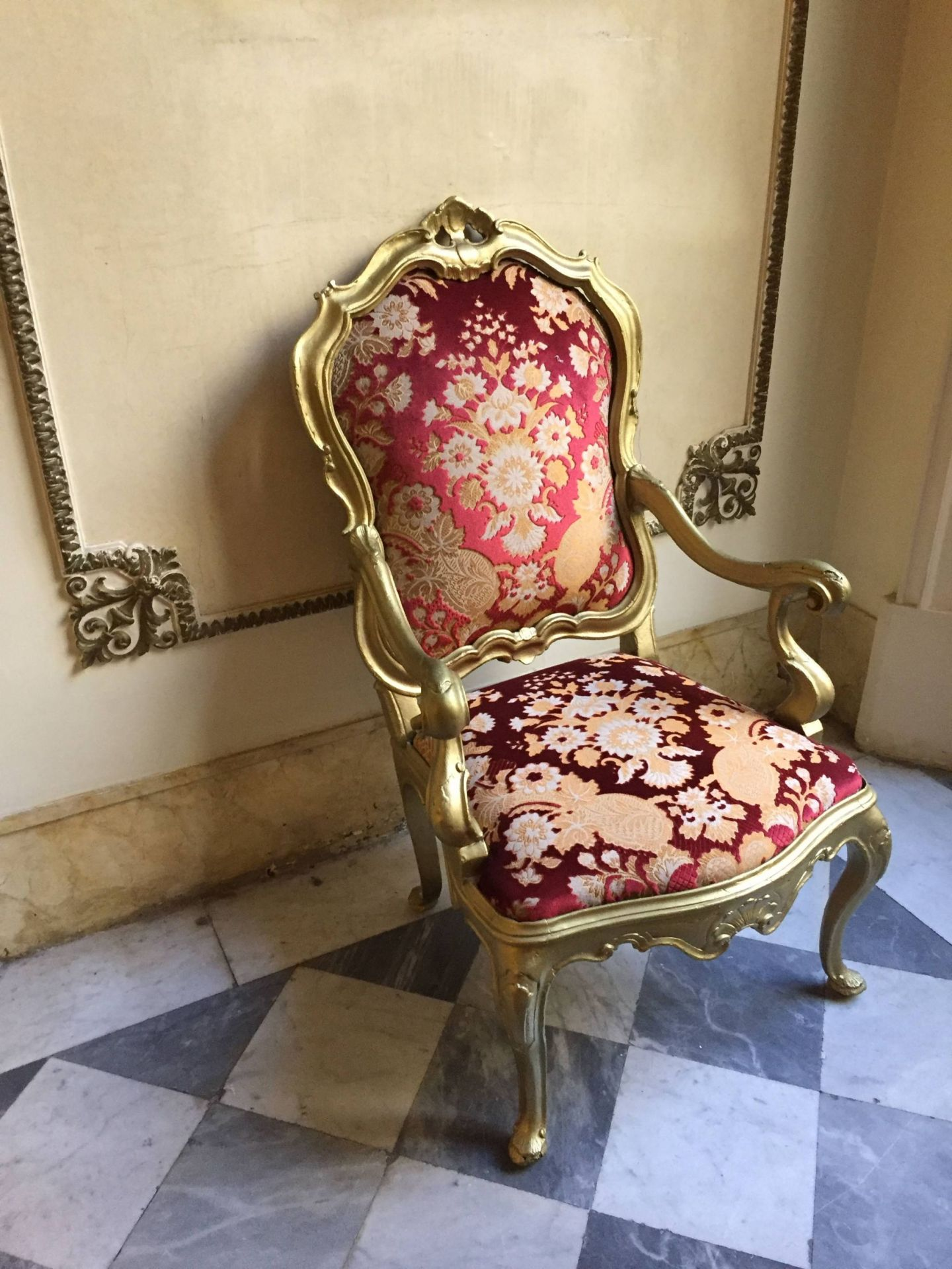Chair in Hotel Quirinale, Rome
