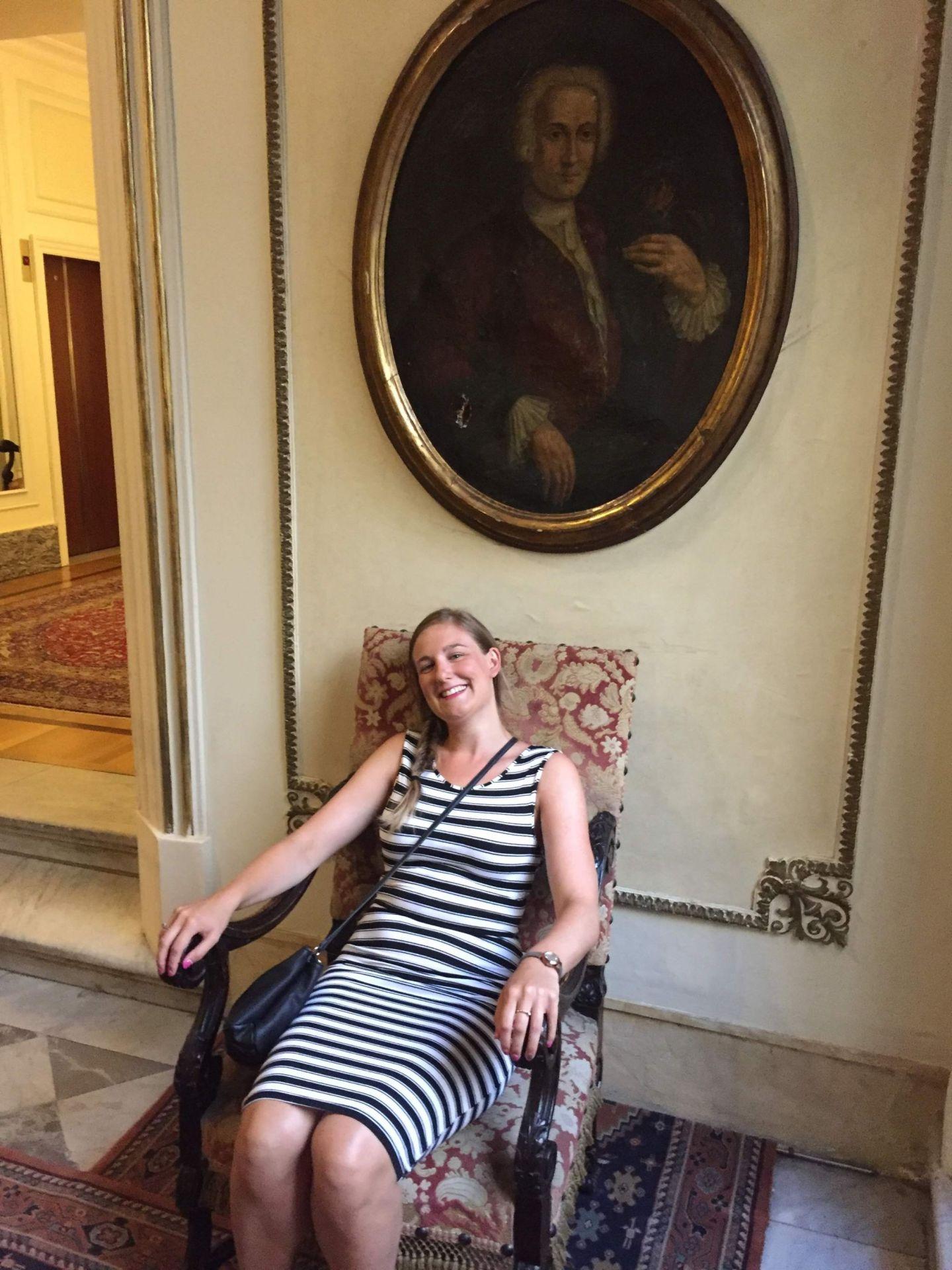 In Hotel Quirinale, Rome