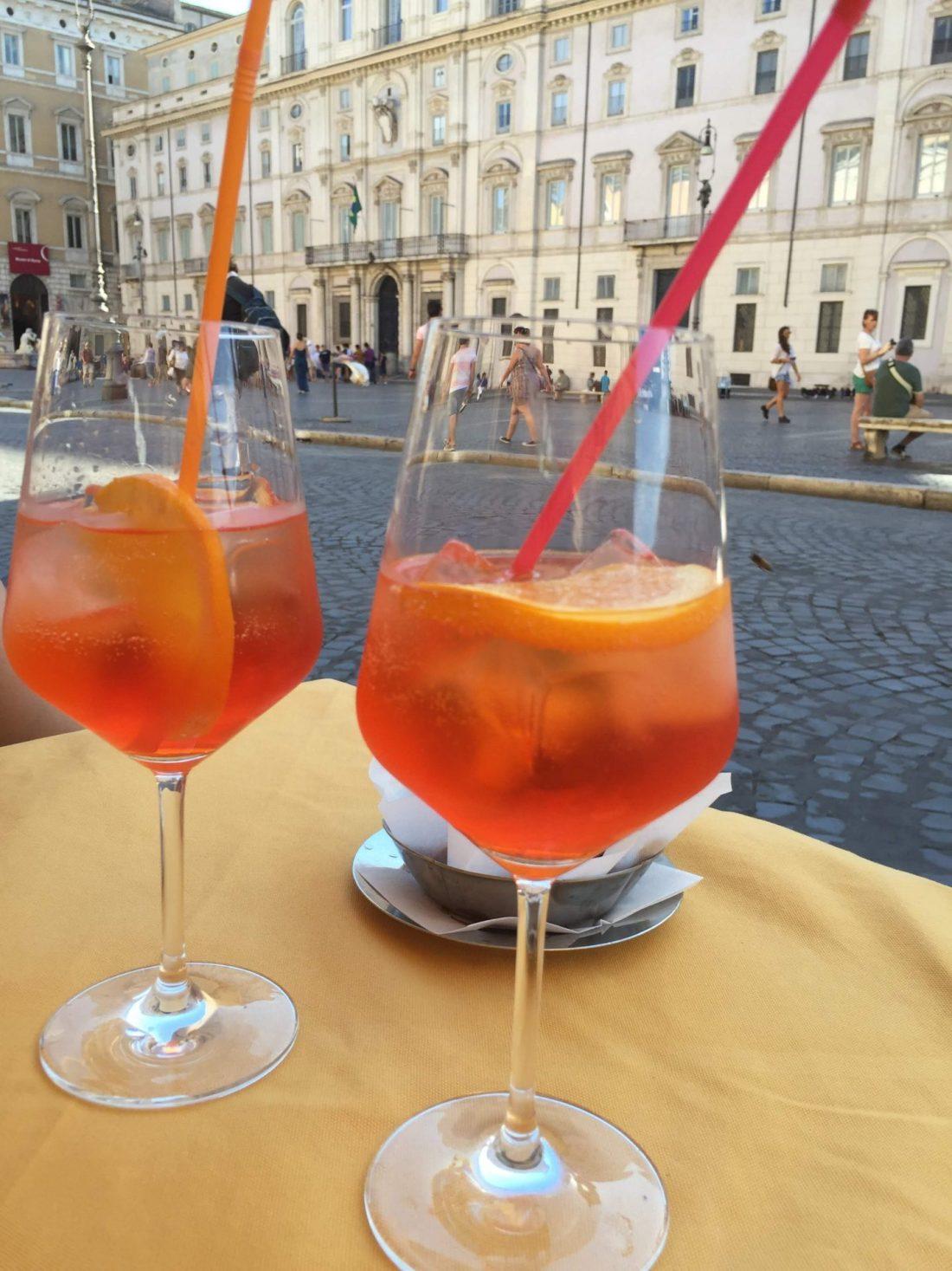 Aperol spritz in Piazza Navona, Rome