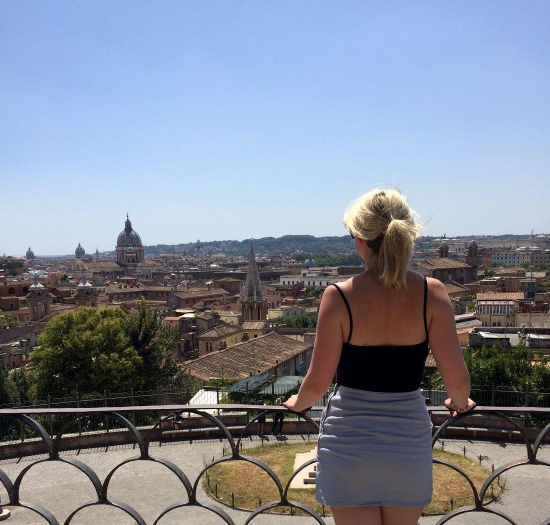 Laura enjoying the views across Rome, Italy