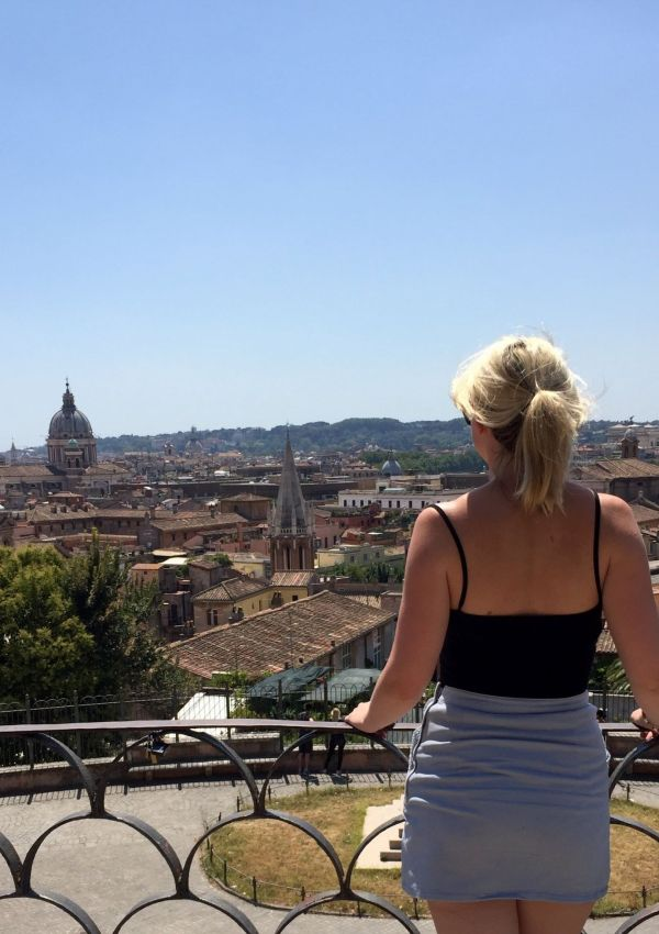 Laura enjoying the views across Rome, Italy