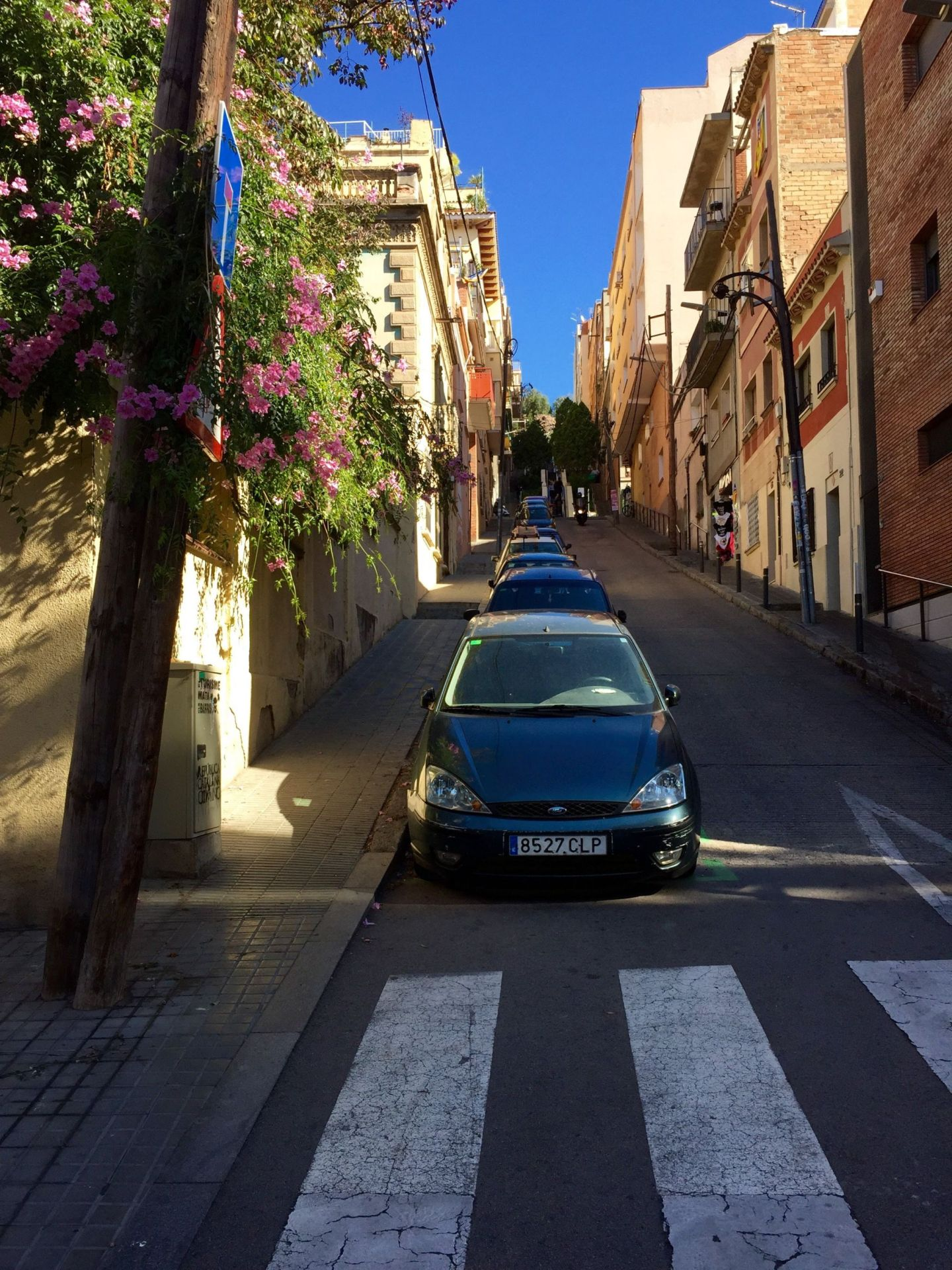 Streets up to Parc Guell, Barcelona
