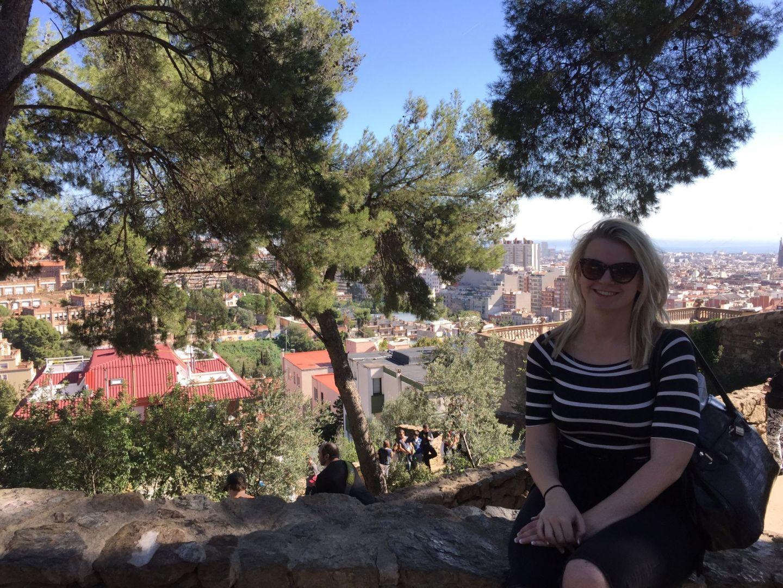 Laura enjoying the views over Barcelona