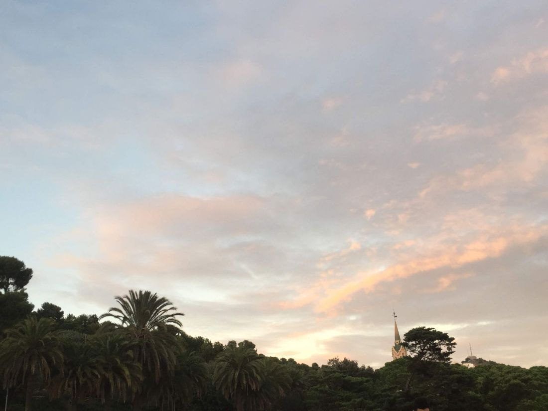 Sunset over Parc Guell