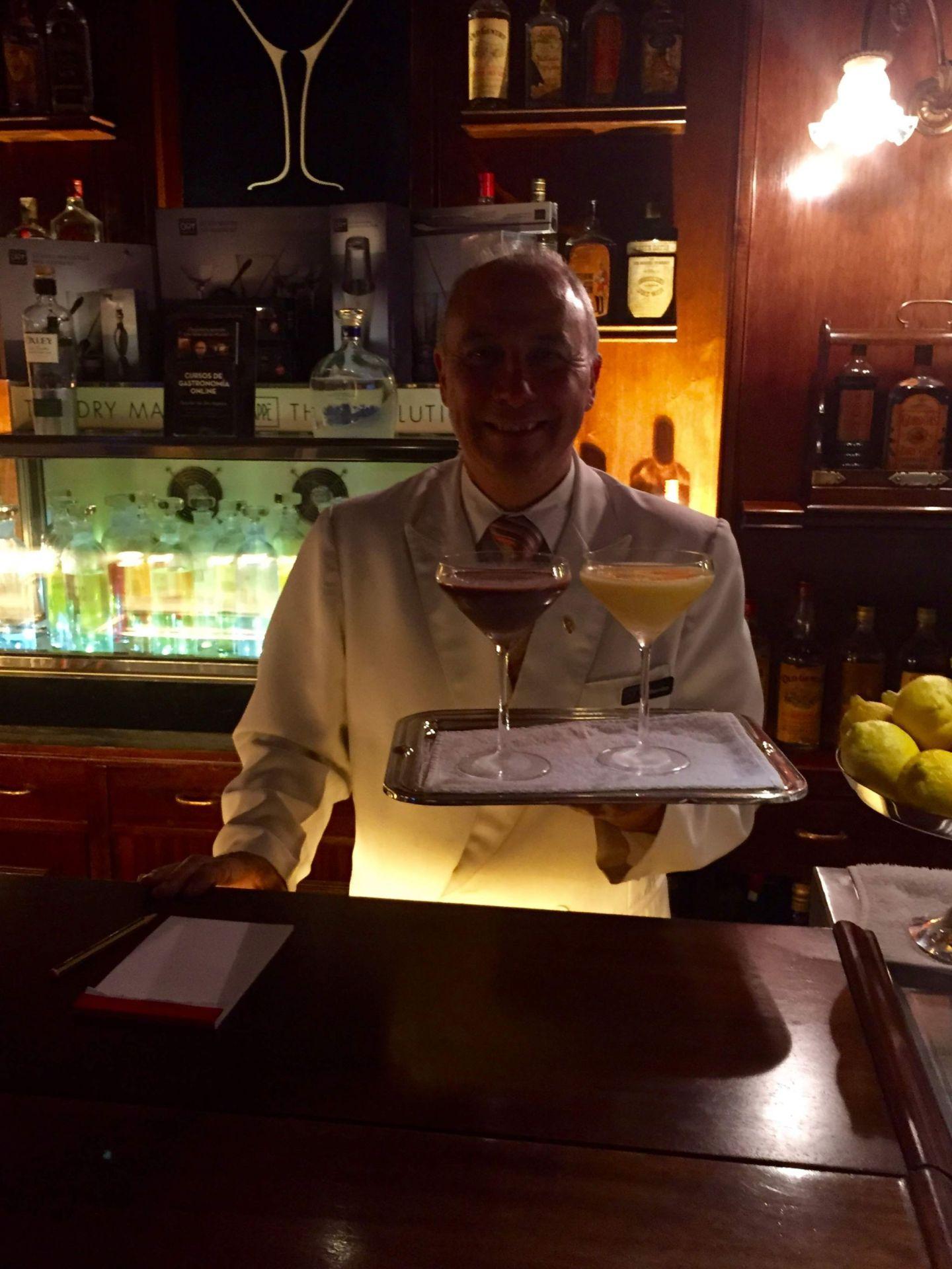 Cocktails served at Dry Martini, Barcelona